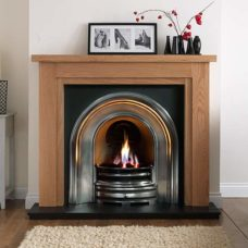 "Calabria Mantel Fire Surround (Natural Oak) (55"")"