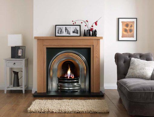 "Calabria Mantel Fire Surround (Natural Oak) (55"")"