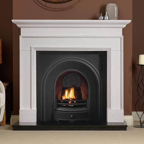 """Cortese Mantel Fire Surround (Agean Limestone) (56"""")"""