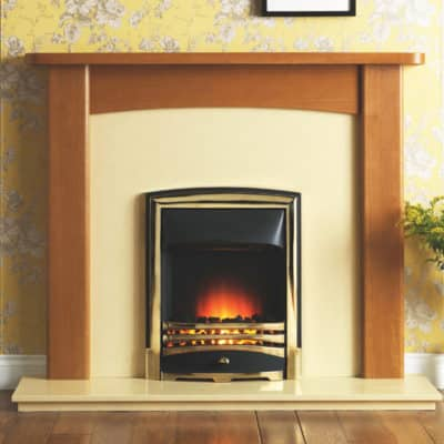 GAL068 - Abbey MDF Mantel Surround (Light Oak)