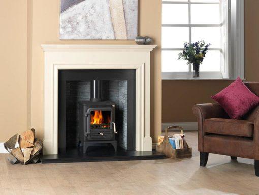 Gallio Mantel Fire Surround In Parchment White
