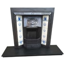 "INS329 - Antique Understated Fireplace Insert (""H x ""W)"