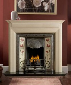 Luca Mantel Fire Surround In Perla Marble