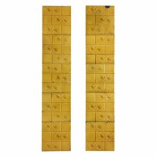 OT270 - Yellow Floral Fireplace Tiles