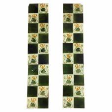 OT273 - Square Pattern Floral Fireplace Tiles