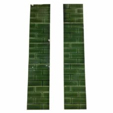 OT276 - Green Brick Pattern Fireplace Tiles