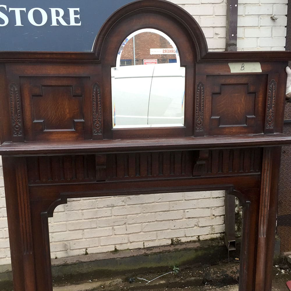 Antique top mirror fire surround from the victorian Victorian fireplace restoration