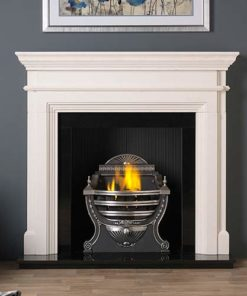 "Teramo Mantel Fire Surround (Agean Limestone) (57"")"