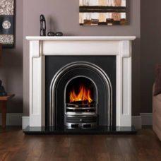 "Verona Mantel Fire Surround (Agean Limestone) (55"")"