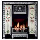 GAL012 - Art Nouveau Cast Iron Insert Fireplace