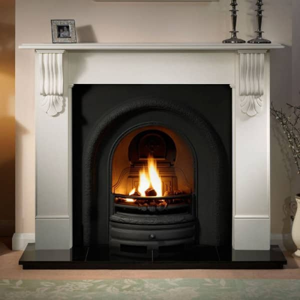The Lytton Cast Iron Fireplace Insert is available with a number of different fuel options. We have a huge range of Fireplaces available