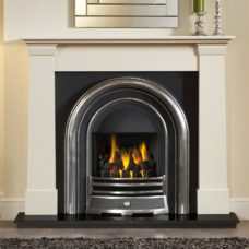 "GAL060 - Oslo Ivory Perla Marble Fire Surround (54"")"