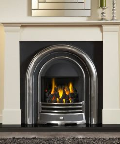 "Oslo Ivory Perla Marble Fire Surround (54"")"