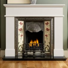 "GAL061 - Pisa Ivory Perla Marble Fire Surround (54"")"