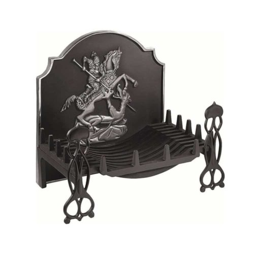 Gallery Swans Nest Fire Basket With Highlighted G&D Fireplate