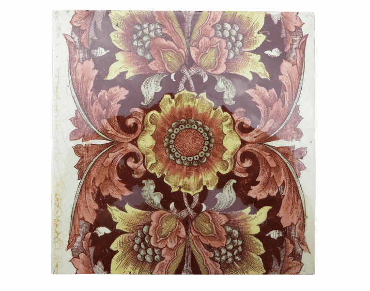 Original Floral Antique Fireplace Tiles Buy From