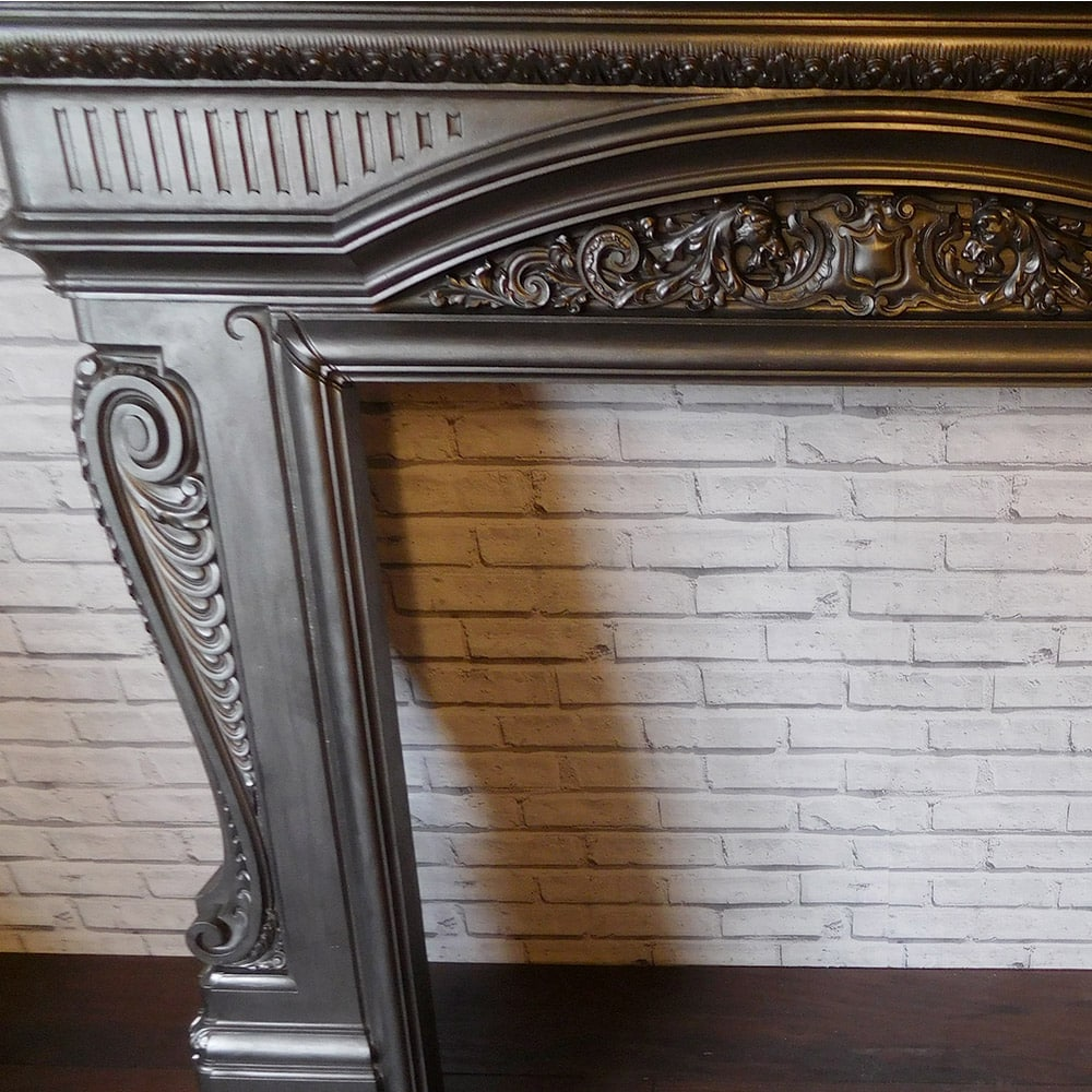 Antique Detailed Cast Iron Surround From The Victorian