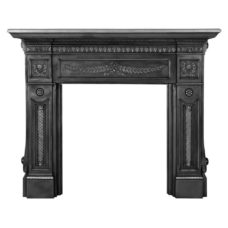 "CS069 - Holyrood Cast Iron Fireplace Surround (53.9""H x 63.5""W)"