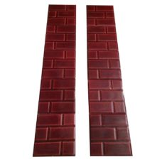 OT144 - Big Red Brick Fireplace Tiles (Raised Bevel)