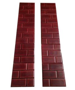 Big Red Brick Fireplace Tiles