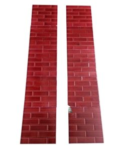 Small Red Brick Fireplace Tiles