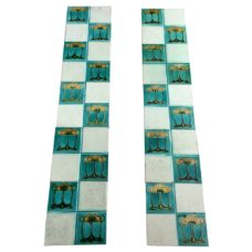OT226 - Original Turquoise & Cream Fireplace Tiles