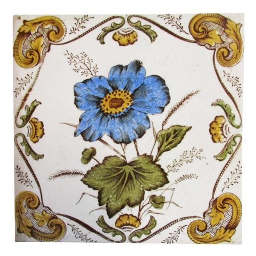 Original Framed Flower Fireplace Tiles