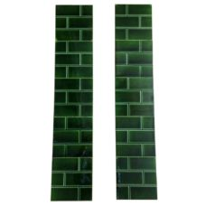 OT227 - Original Green Brick Fireplace Tiles