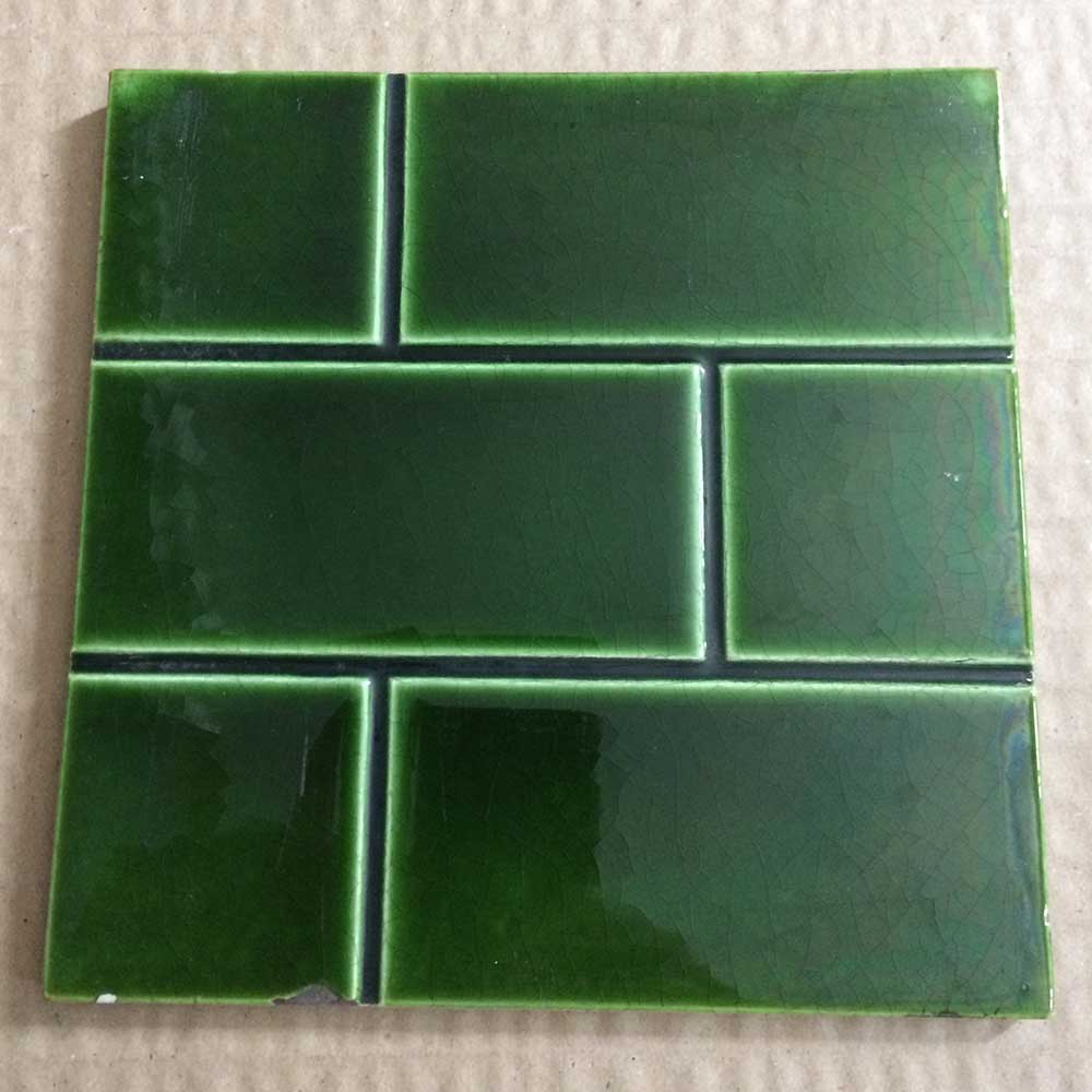 Original Green Brick Fireplace Tiles From Victorian