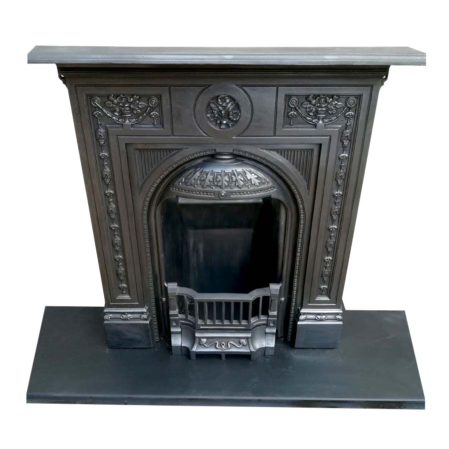 Floral Cast Iron Bedroom Fireplace Victorian Fireplace Store