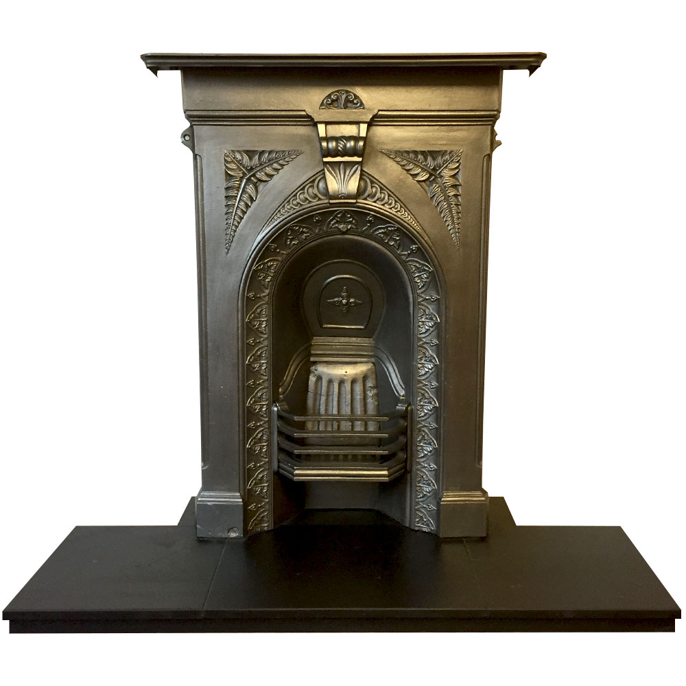 Antique Cast Iron Arched Fireplace Insert Fireplaces
