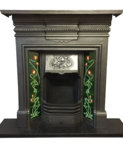 Original Antique Combination Fireplace