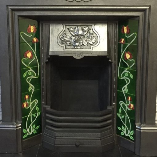 Original Antique Combination Fireplace
