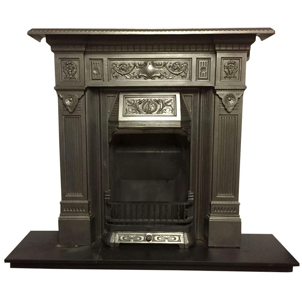 Original Late Victorian Combination Fireplace Victorian