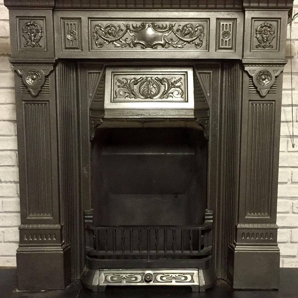 Victorian Fireplace: Original Late Victorian Combination Fireplace