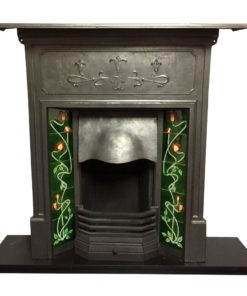 Edwardian Art Nouveau Combination Fireplace