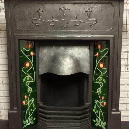 Edwardian Art Nouveau Combination Fireplace