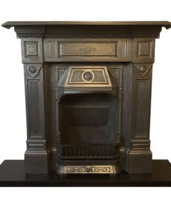 Antique Late Victorian Combination Fireplace