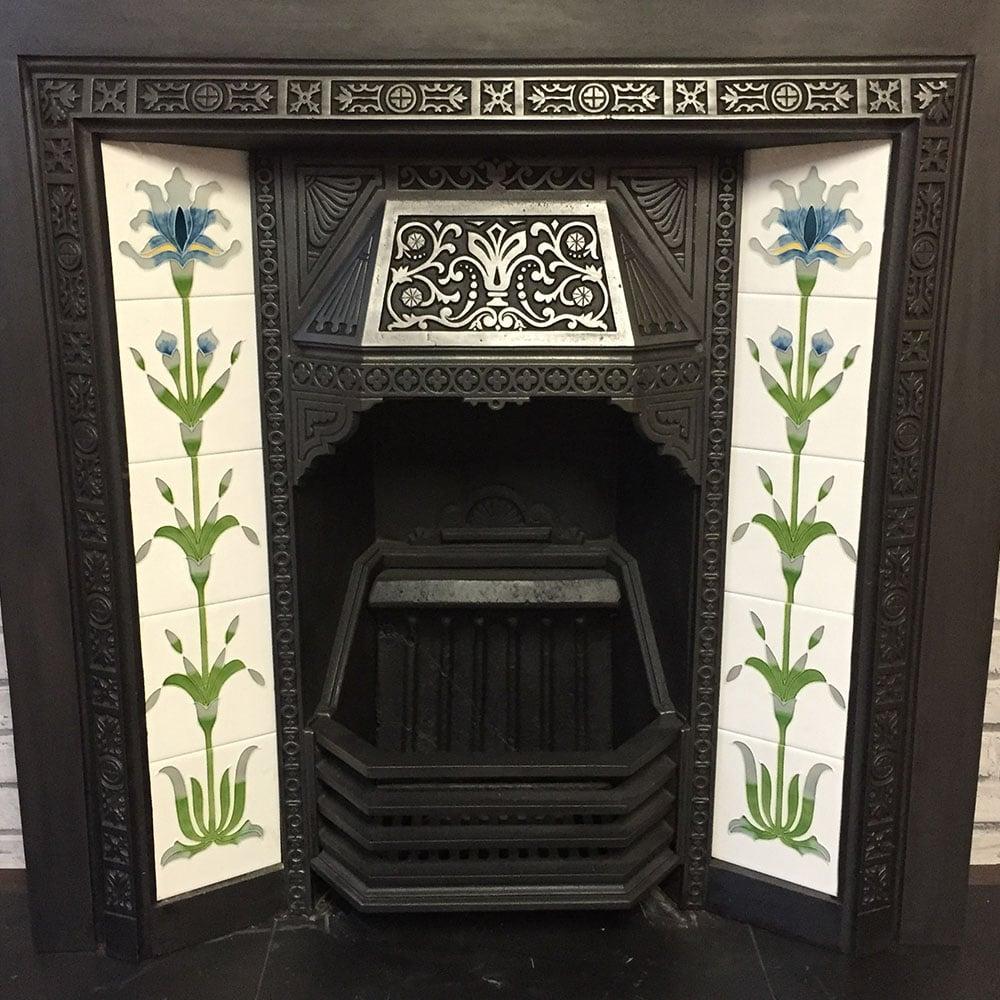 Original Antique Fireplace Insert For Sale Victorian
