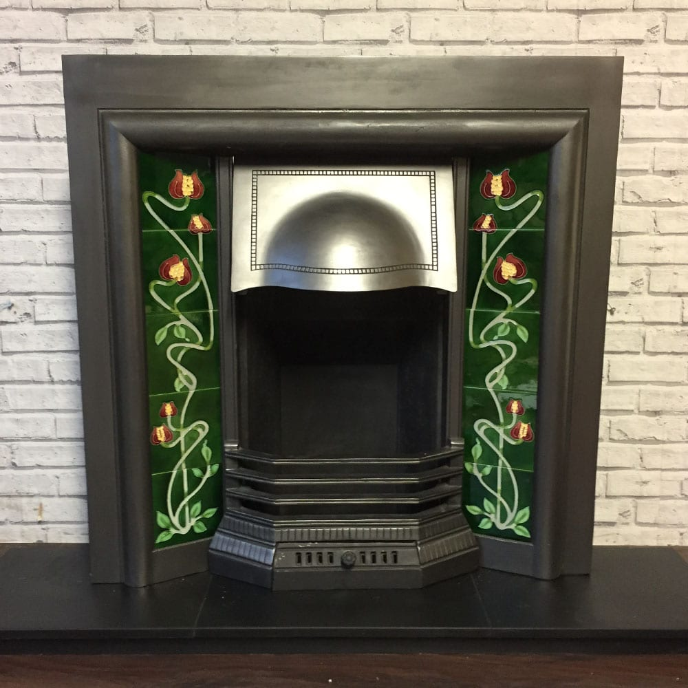 Edwardian Cast Iron Fireplace Insert For Sale Victorian