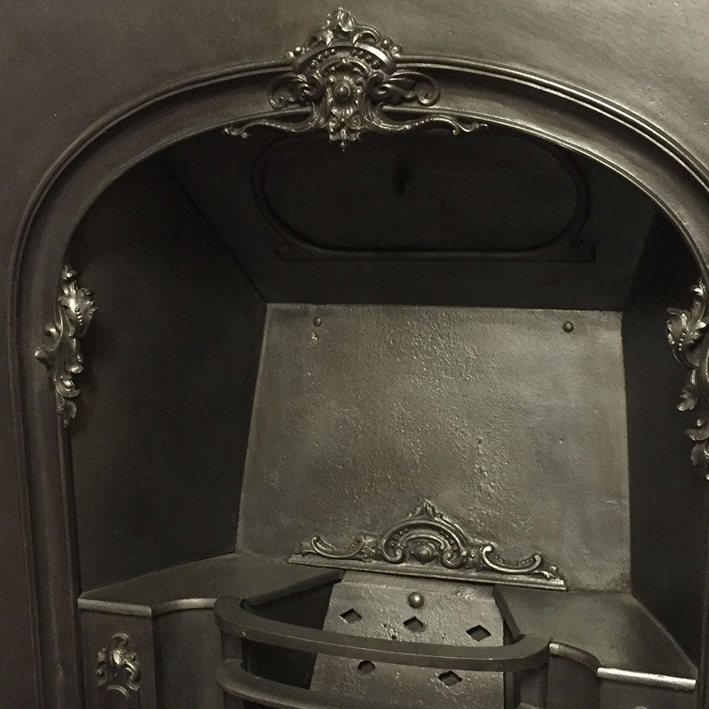 Victorian Fireplace: Victorian Arched Fireplace Insert For Sale