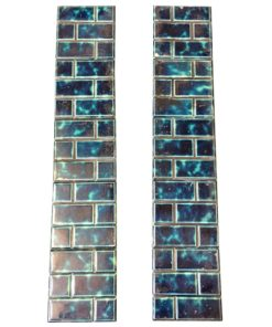 Original Blue Brick Fireplace Tile Set