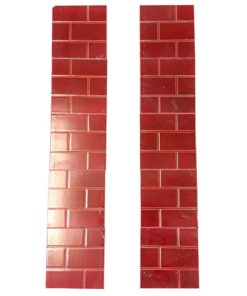 Original Red Brick Fireplace Tile Set