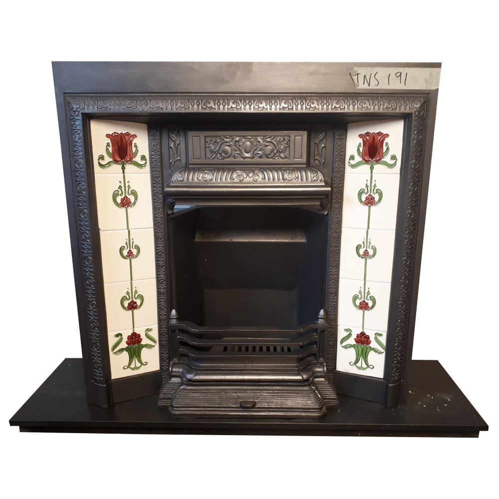 This original intricate Fireplace Insert has been fully restored including stripping
