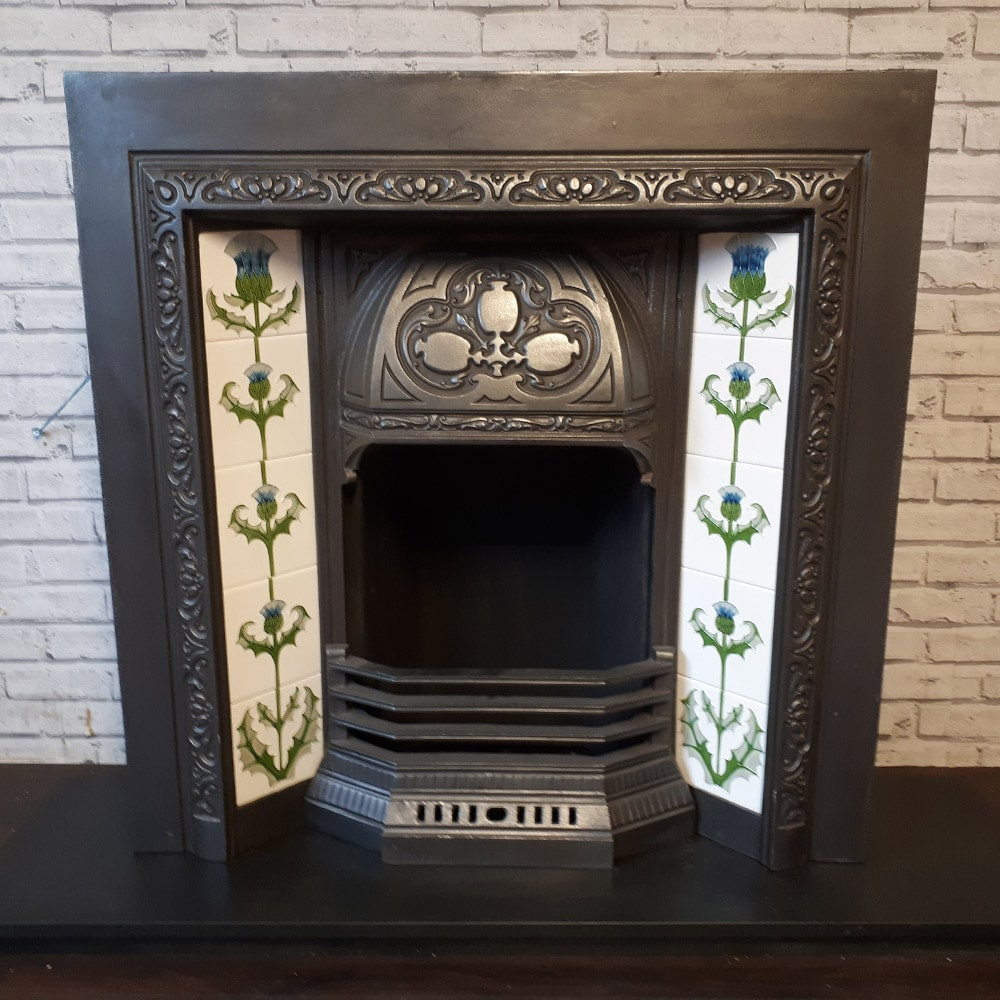 Original Floral Fireplace Insert For Sale Victorian Fireplace Store