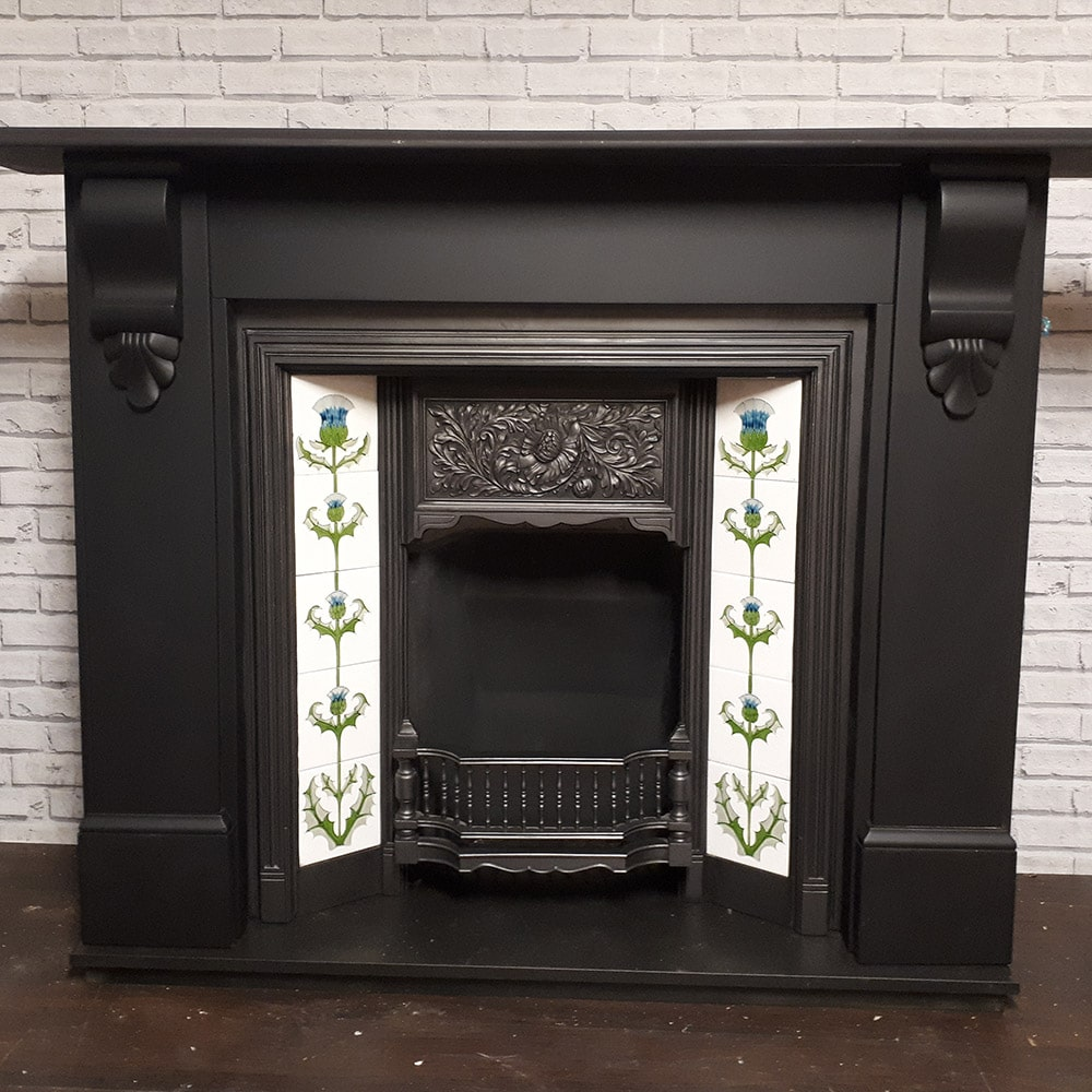 Floral Original Fireplace Insert For Sale Victorian Fireplace Store