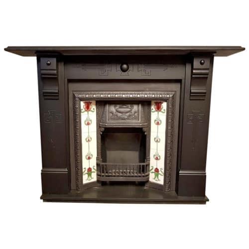 Antique Fireplace Slate Surround