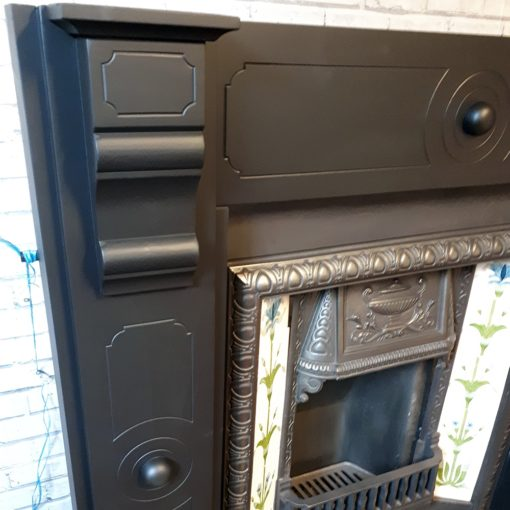 Original Ringed Slate Fireplace Surround