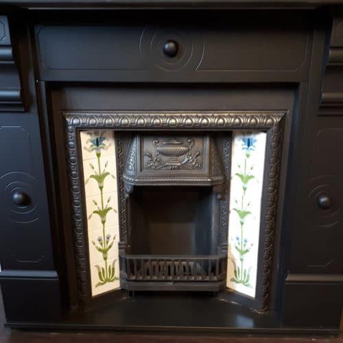 Original Ringed Slate Fireplace Surround