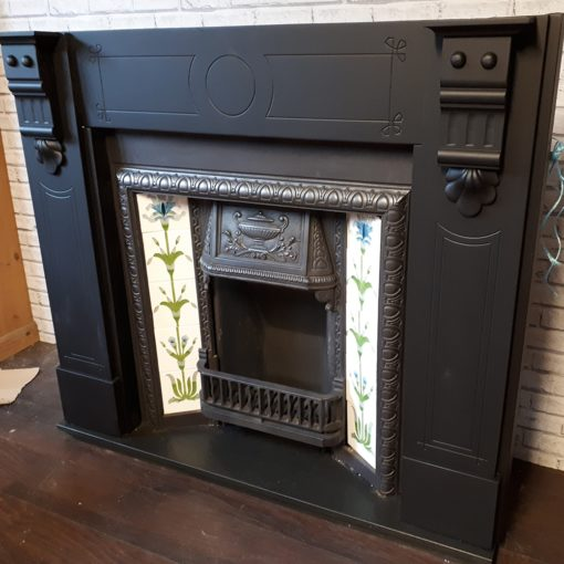 Original Corbelled Slate Fireplace Surround